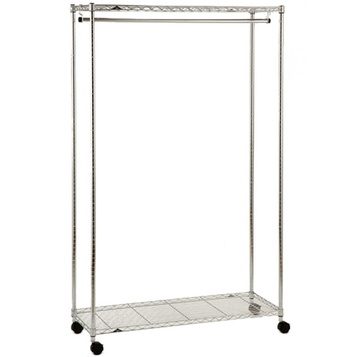 Rolling Chrome Garment Rack Image