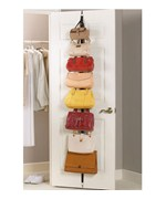 Over the Door Adjustable Purse Racks