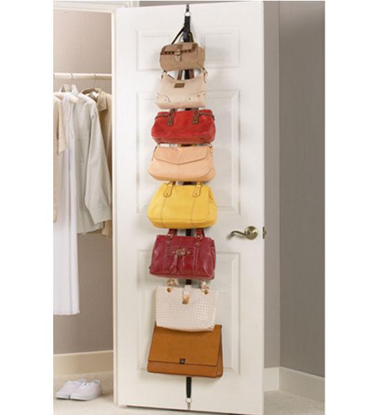 Over The Door Adjustable Purse Racks