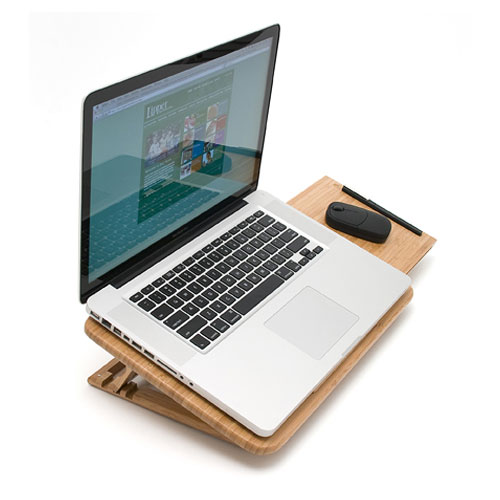Bamboo Laptop Stand with Mouse Pad in Lap Desks
