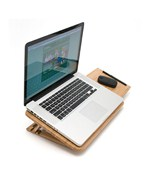 Bamboo Laptop Stand with Mouse Pad