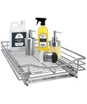 Chrome Roll-Out Cabinet Organizer - 14 Inch