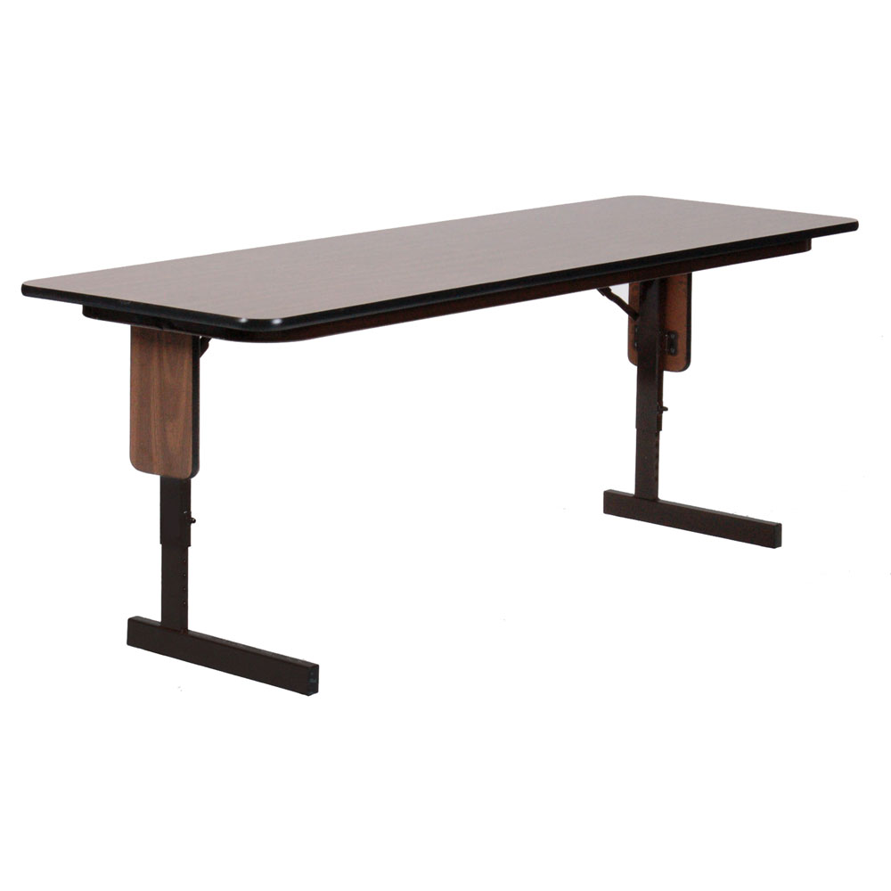 18x60 adjustable seminar table in folding tables. Black Bedroom Furniture Sets. Home Design Ideas