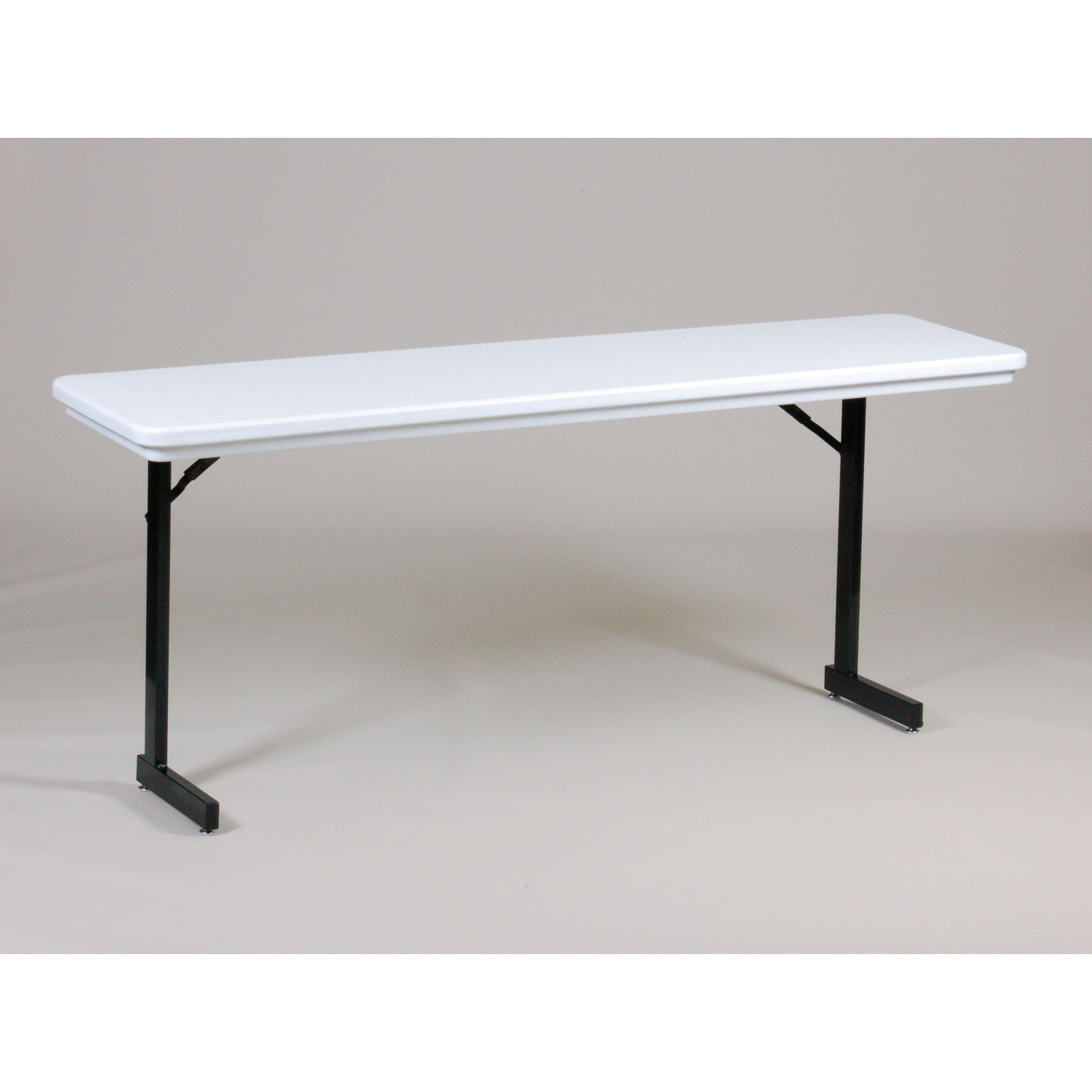 18x72 t leg folding seminar table by correll in folding tables for Table retractable