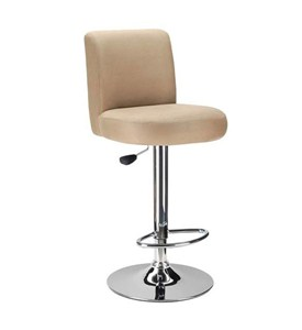 Brown Cushioned Bar Stool Image