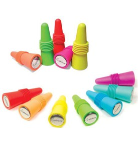Colorful Wine Bottle Stoppers (Set of 2) Image