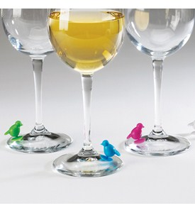 Perch Suction Wine Charms (Set of 6) Image