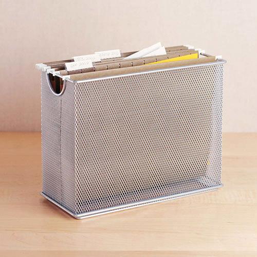 Tabletop Mesh File Organizer Silver In File Storage Boxes