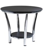 Polished Steel Side Table