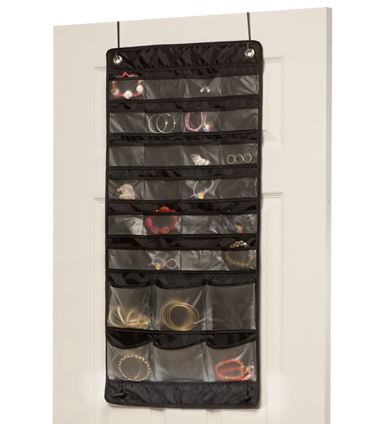 Over the Door Mix and Match Jewelry Organizer in Hanging Jewelry