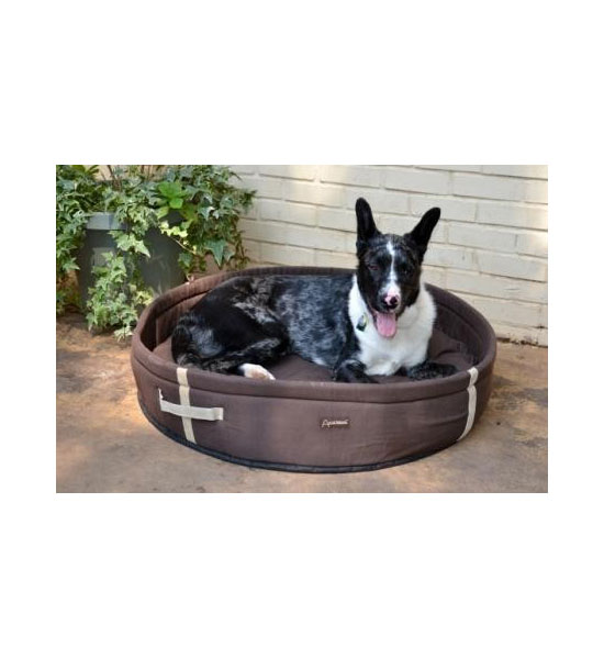 Round Dog Bed - Chocolate Image