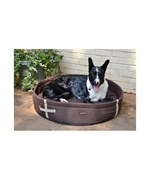 Round Dog Bed - Chocolate