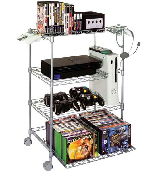 ... Six Game Keeper 4 Tier Wire Gaming Tower Image