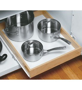 Wood Roll-Out Cabinet Shelf - 19 Inch Depth Image