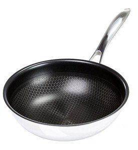 2.5 Quart Stainless Steel Chefs Pan - Black Cube Image