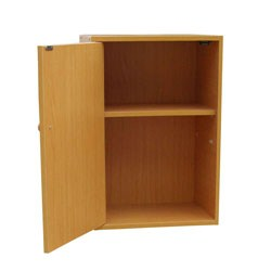 2-Tier Adjustable Book Shelf With Door by O.R.E. Image