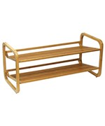 Two-Tiered Bamboo Shoe Shelf