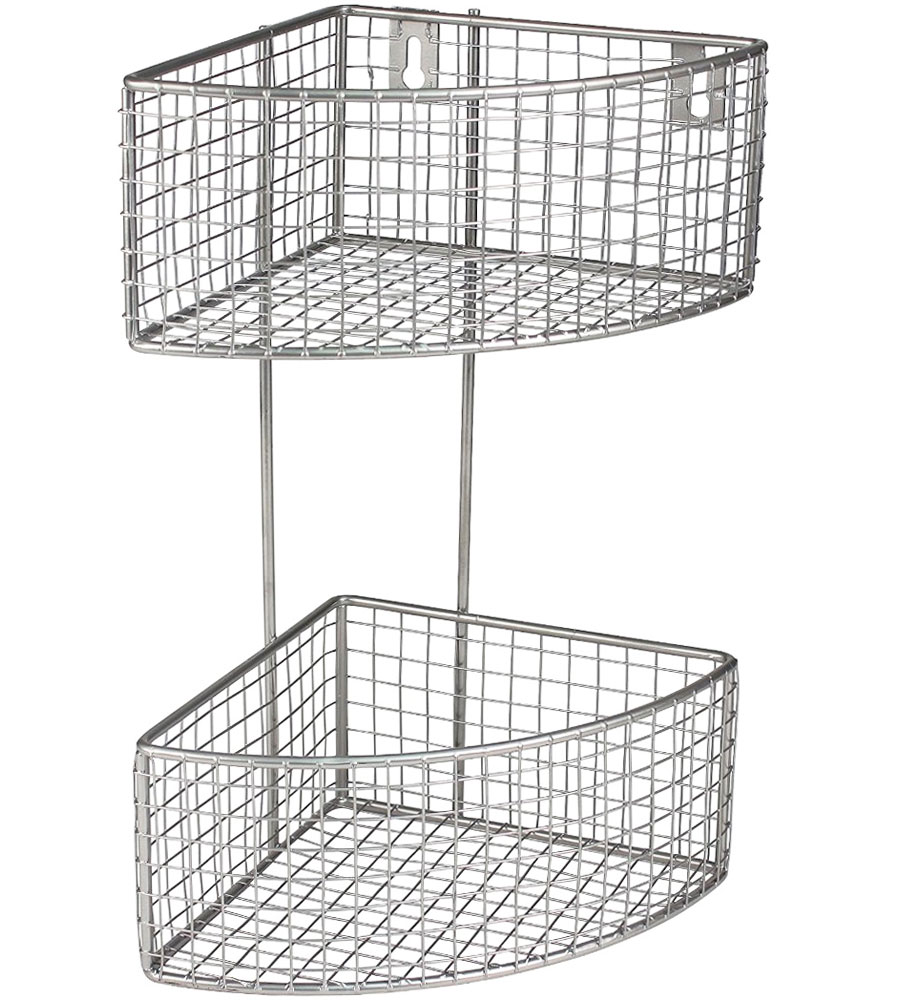 2 Tier Corner Baskets In Wire Baskets