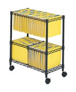 2 Tier Mobile File Cart