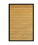 Contemporary Natural Bamboo Area Rug by Anji Mountain