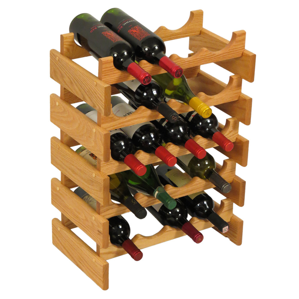 Wood Wine Rack 20 Bottle In Wine Racks