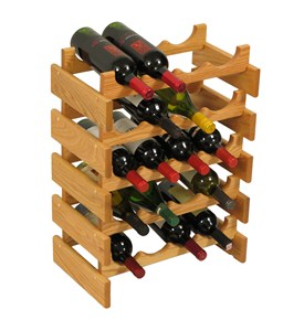 Wood Wine Rack - 20 Bottle Image