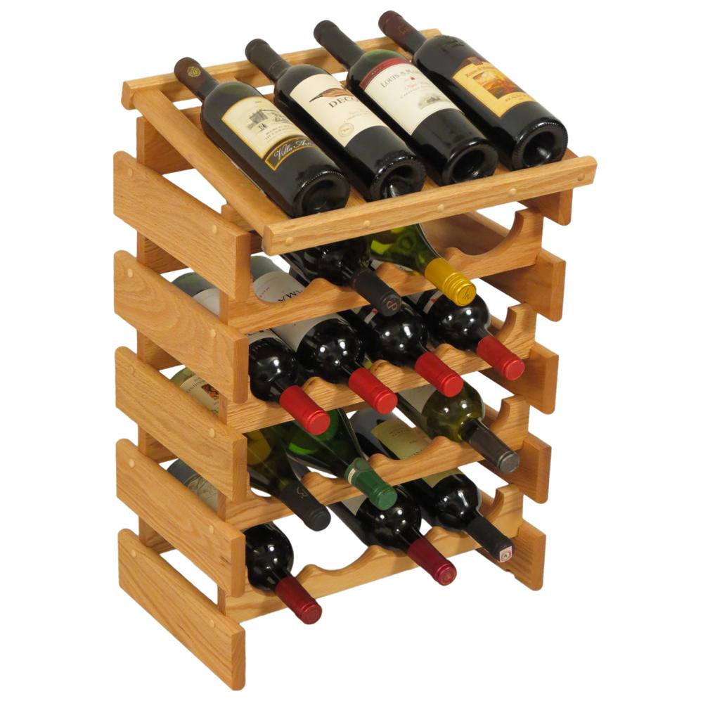 Wood Wine Rack 20 Bottle Display In Wine Racks