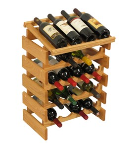 Wood Wine Rack - 20 Bottle Display Image