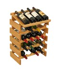 Wood Wine Rack - 20 Bottle Display