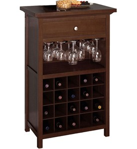 20 Bottle Wine and Stemware Cabinet Image