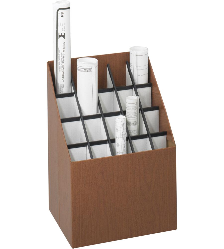 20 section blueprint rack in blueprint storage for Architectural plan racks