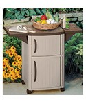 Mobile Serving Station Patio Cabinet