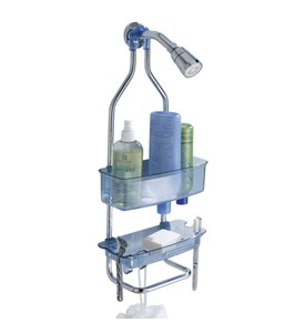 Zia Stainless and Plastic Shower Caddy - Blue Image