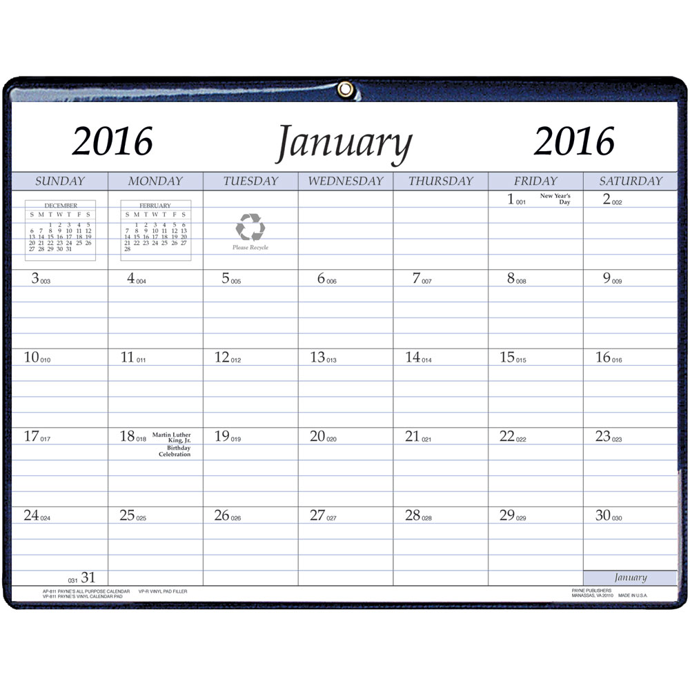 Weekly Calendar Magnet : Monthly magnetic calendar in calendars and planners