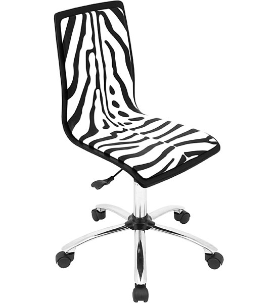Amazing Zebra Print Office Chair Image
