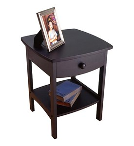 Curved Night Stand - Black Image