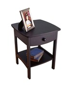 Curved Night Stand - Black