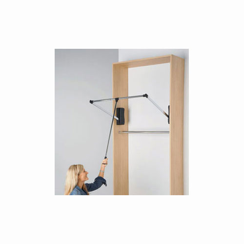 Pull Down Closet Rod Large In Closet Rods And Brackets