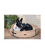 Round Dog Bed - Tan