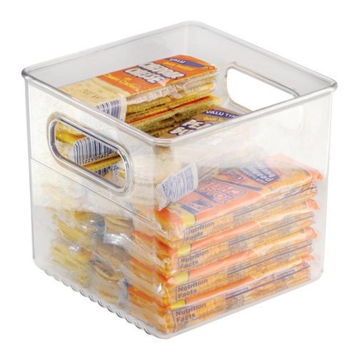 Clear Plastic Storage Bin 8 Inches By 8 Inches In Home