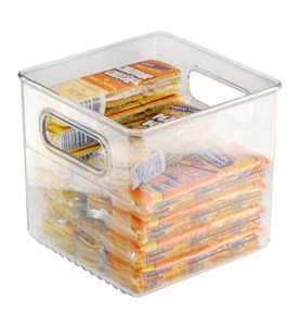 Clear Plastic Storage Bin - 8 inches by 8 inches Image