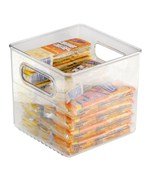 Clear Plastic Storage Bin - 8 inches by 8 inches