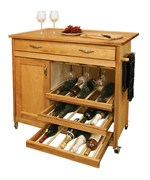 Wine Rack Kitchen Island