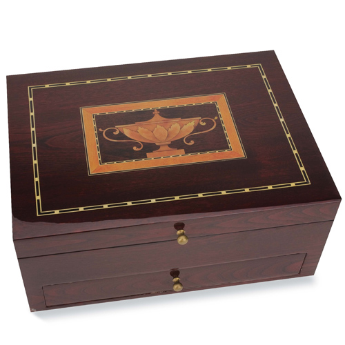 Flatware storage chest mahogany in silverware chests for Cutlery storage with lid