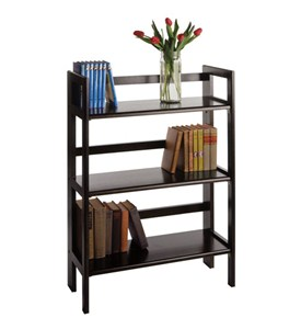 Three-Tier Folding Display Shelf - Black Image
