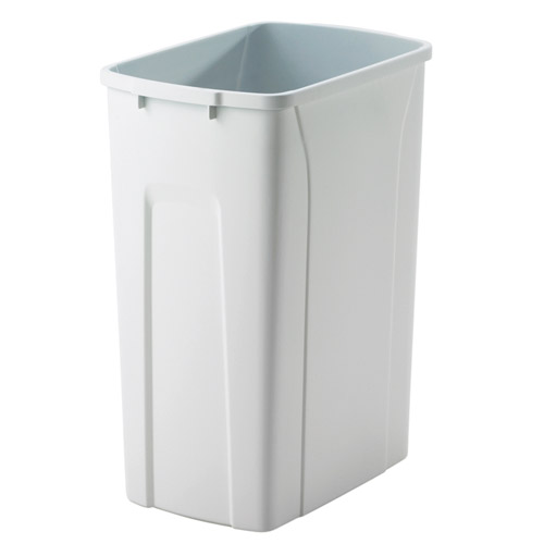Replacement Plastic Waste Bin 20 Quart In Kitchen Trash Cans