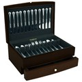 Handmade Wooden Flatware Chest - Espresso