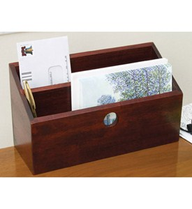 Letter and mail organizer cherry in desktop organizers - Cherry desk organizer ...