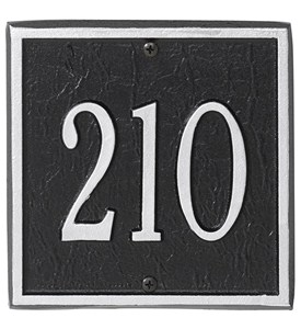 Square Entryway Home Address Plaque Image