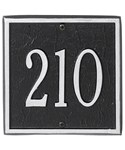 Square Entryway Home Address Plaque